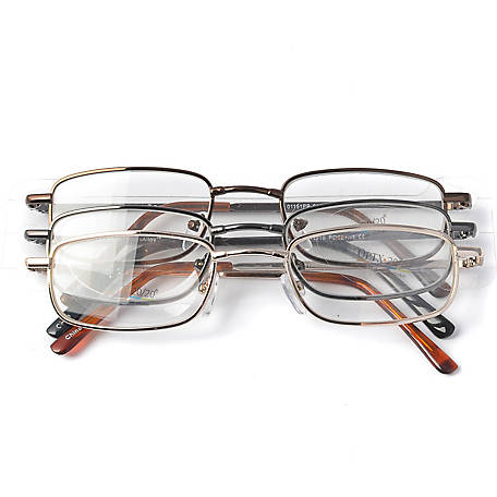 OPTX 20/20 Reading Glasses, Alloy, 1.50, Pack of 3