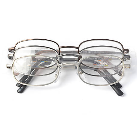 OPTX 20/20 Reading Glasses, Staple, 1.75, Pack of 3