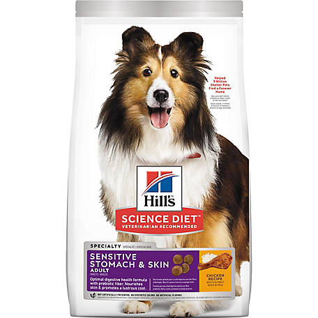 Hill's Science Diet Adult Sensitive Stomach & Skin Chicken Meal & Barley Recipe Dry Dog Food, 30 lb.