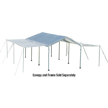ShelterLogic MAX AP Canopy Extension/Sidewall Kit, 10 ft. W x 20 ft. L x 9-1/2 ft. H