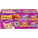 Friskies Poultry Wet Cat Food Variety Pack, 5.5 oz. Can, Pack of 32, 11 lb.