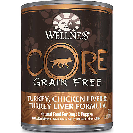 Wellness Core Natural Grain Free Wet Canned Dog Food Turkey