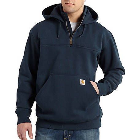 Carhartt Men's Rain Defender Paxton Heavy-Weight Hooded Zip Mock Sweatshirt