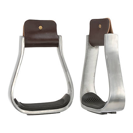 Tough-1 Aluminum Stirrups with Rubber Pad, 3in. Neck