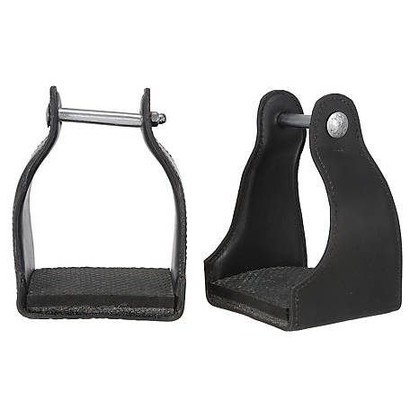 Tough-1 Royal King Leather Covered Endurance Stirrups
