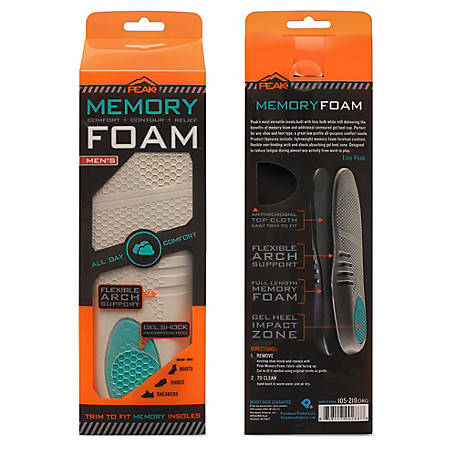 Peak Men's Memory Foam Insole