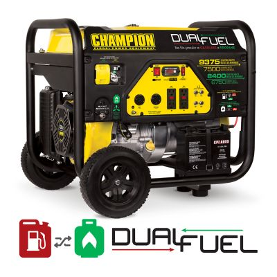 Buy Champion Power Equipment 7500-Watt Dual Fuel Portable Generator with Electric Start Online