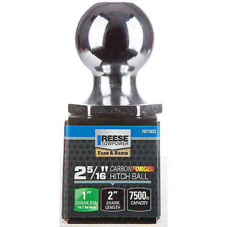 Reese Towpower InterLock Carbon Forged Hitch Ball, 2-5/16 in., 7,500 lb. Capacity, Chrome, 7071033