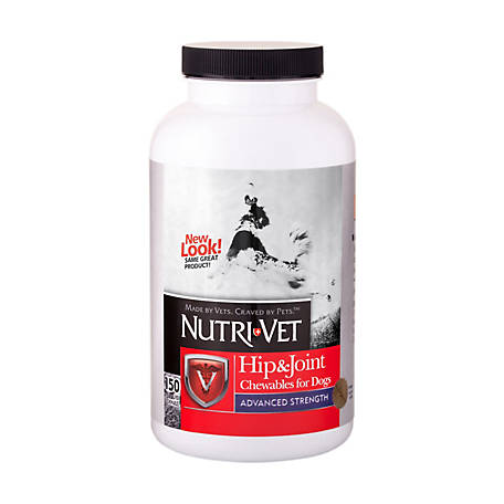 Nutri-Vet Hip & Joint Advanced Strength Chewables for Dogs, 1001029