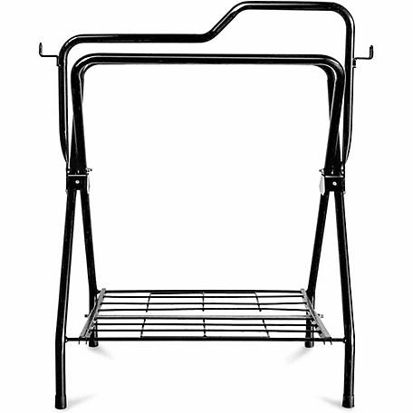 DuMOR Foldable Saddle Rack, Black Powder Coated, 34-2/3 in. x 30-1/2 in.