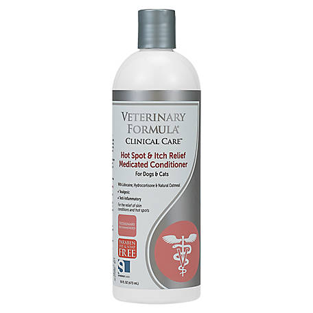 Synergy Labs Veterinary Formula Clinical Care Hot Spot & Itch Relief Medicated Shampoo with Lidocaine & Hydrocortisone, 16 oz.