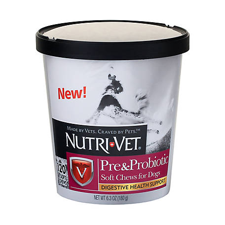Nutri-Vet Pre & Probiotic Soft Chews, Pack of 120, 1001083