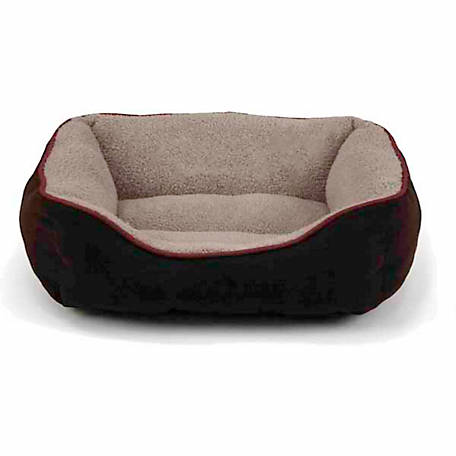 Dallas Manufacturing Faux Suede Box Dog Bed