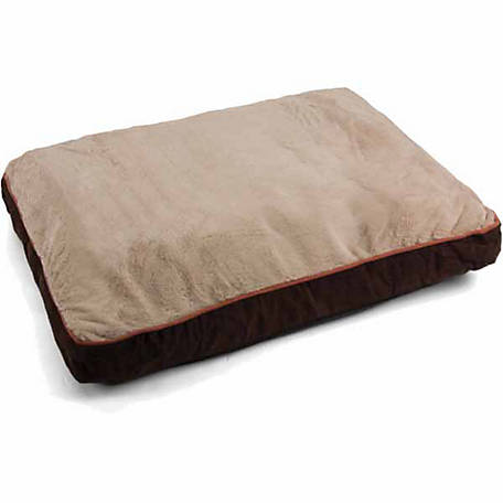 Dallas Manufacturing 27 in. x 36 in. Faux Suede 4 in. Gusseted Dog Bed, Brown