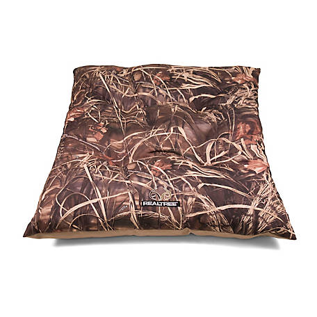 Realtree 35 in. x 44 in. Max 4 Dog Bed, Camo/Khaki