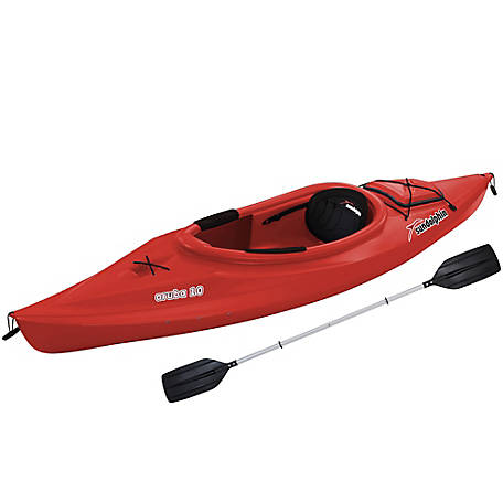 Sun Dolphin Aruba 10 ft. Kayak with Paddle, Red, 51310-P