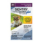 SENTRY Fiproguard Plus Flea and Tick Squeeze-On for Cats, Over 1.5 lb., 3 Count