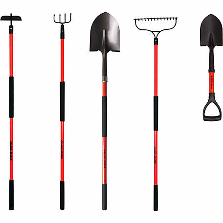 Black & Decker 5 Piece Long Handled Garden Tool Set