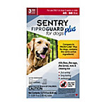 SENTRY Fiproguard Plus Flea and Tick Squeeze-On for Dogs, 45-88 lb., 3 Count