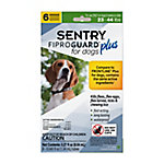 SENTRY Fiproguard Plus Flea and Tick Squeeze-On for Dogs, 23-44 lb., 6 Count