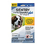 SENTRY Fiproguard Plus Flea and Tick Squeeze-On for Dogs, 89-132 lb., 6 Count