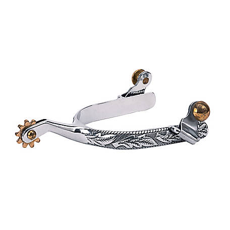 Weaver Leather Women's Roping Spurs with Engraved Band