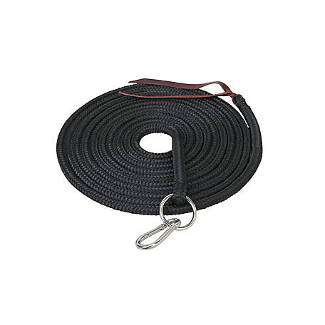 Weaver Leather Silvertip Lunge Line with Ring and Snap, 1/2 in. x 22 ft.