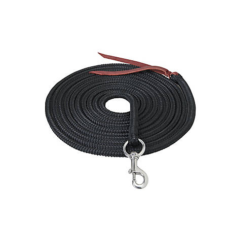 Weaver Leather Silvertip Lunge Line with 225 Snap, 1/2 in. x 22 ft.