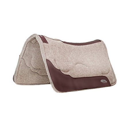 Weaver Leather Contoured Layered Felt Saddle Pad with Gel Insert