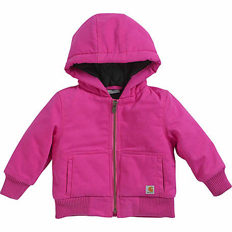 Carhartt Infant and Toddler Girl's Quilted Flannel-Lined Wildwood Jacket