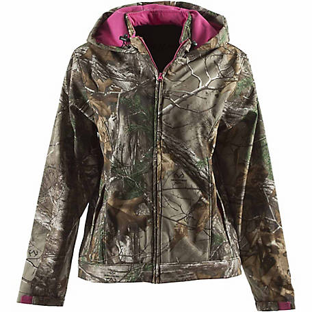 C.E. Schmidt Women's Softshell Camouflage Hooded Jacket