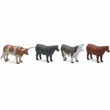 New-Ray 4-Cow Play Set, SS-05526