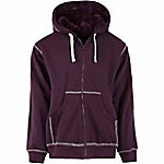 C.E. Schmidt Women's Aubergine Sherpa-Lined Zip-Up Hooded Sweatshirt