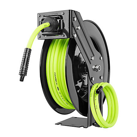Flexzilla Open Face Retractable Air Hose Reel, 3/8 in. x 50 ft.