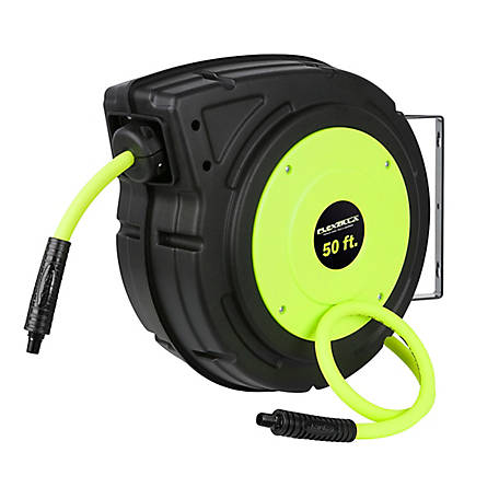 Flexzilla Enclosed Plastic Retractable Air Hose Reel, 3/8 in. x 50