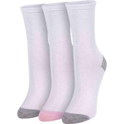 Bit & Bridle Women's Crew Sock; White; Pack of 3 Pairs