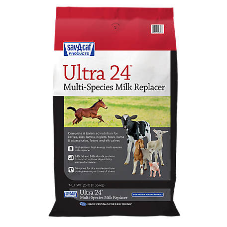 Sav-A-Caf Grade A Ultra 24 Multi-Species Milk Replacer, 25 lb.