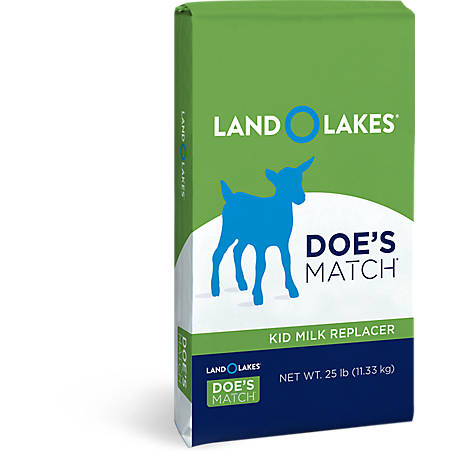 Land O'Lakes Doe's Match Premium Blend Kid Milk Replacer, 25 lb.