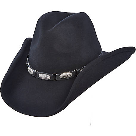 DPC Wool Felt Western Hat with Metal Conchos