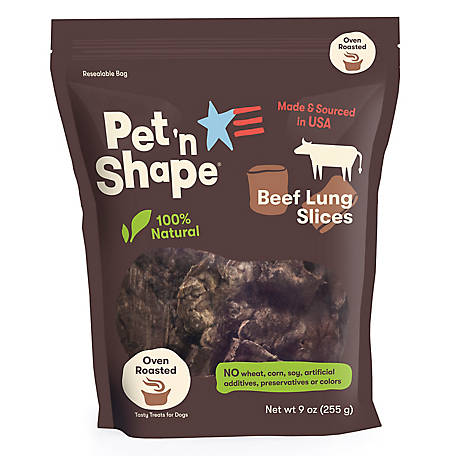 Pet 'n Shape Natural Beef Lung Slices, 9 oz. Bag