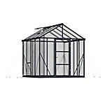 Palram Glory Premium Class 8 ft. x 8 ft. Greenhouse, Charcoal Gray