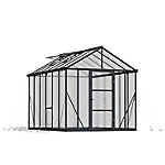 Palram Glory Premium Class 8 ft. x 12 ft. Greenhouse, Charcoal Gray