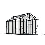 Palram Glory Premium Class 8 ft. x 20 ft. Greenhouse, Charcoal Gray