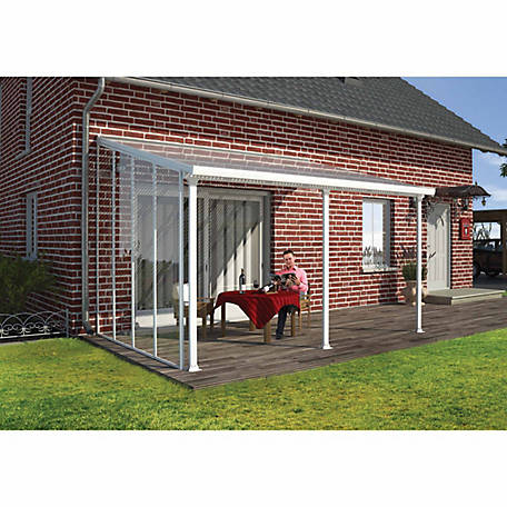 Palram Feria Patio Cover Sidewall Kit 10 Ft H White At Tractor Supply Co