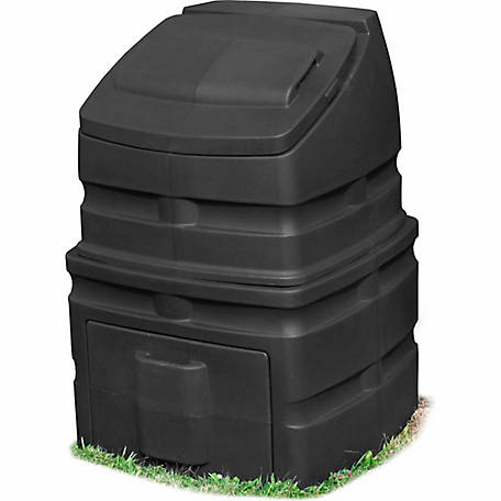 Good Ideas Compost Wizard Standing Bin, Black, 26 in. x 37 in.