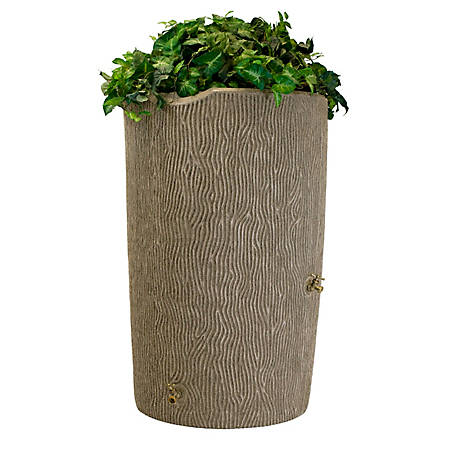 Good Ideas Impressions 90 gal. Bark Rain Saver, Sandstone, 29 in. x 45 in.