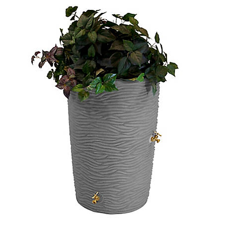 Good Ideas Impressions 50 gal. Palm Rain Saver, Dark Granite, 23 in. x 34 in.