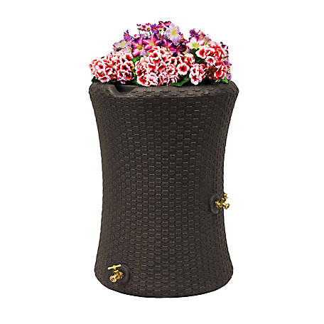 Good Ideas Impressions 50 gal. Nantucket Rain Saver, Dark Brown, 29 in. x 45 in.