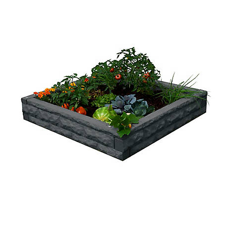 Good Ideas Garden Wizard Raised Bed Garden, Dark Granite, 4 ft. x 4 ft.
