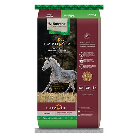 Nutrena Empower Boost High-Fat Rice Bran Horse Supplement, 40 lb  at  Tractor Supply Co